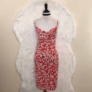 DVF Annette Leaf Print Dress